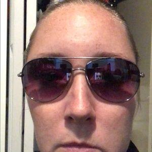 Steve Madden Silver Aviator Sunglasses
